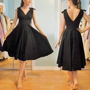 Dresses & Skirts - Black VTG Style Audrey Hepburn Fit & Flair Dress